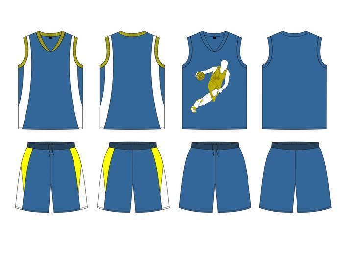 篮球服款式图