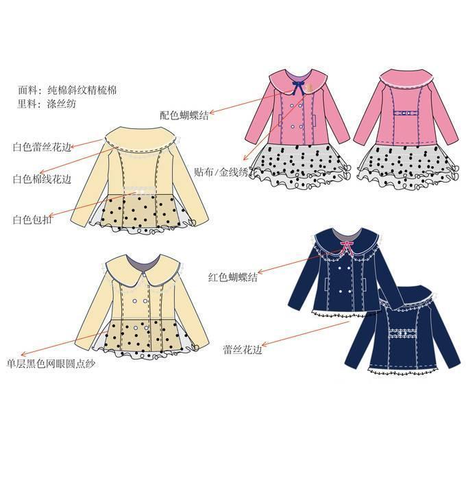 童装外套款式图-童装设计-服装设计