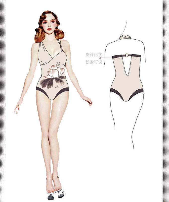 泳装效果图-内衣/家居设计-服装设计