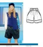 时装短裤款式图