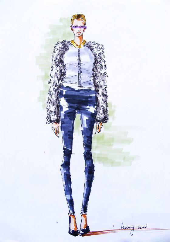 馬克筆手稿-女裝設計-服裝設計