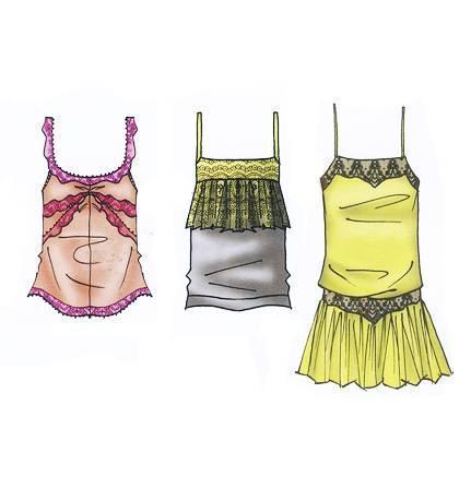 吊带背心款式图-女装设计-服装设计