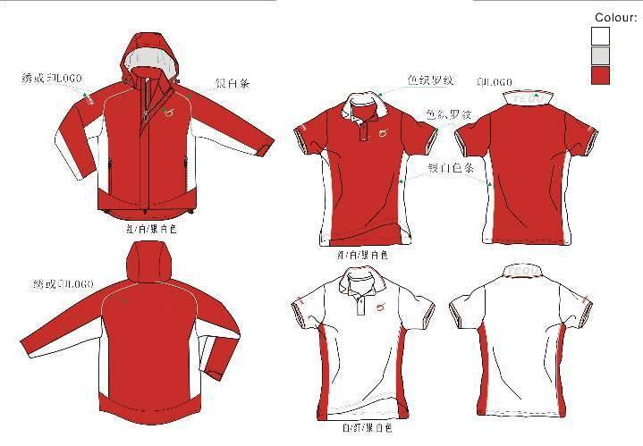 男装户外服装款式图-职业服装设计-服装设计