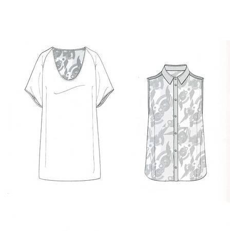 t恤 无袖衬衫 款式图-女装设计-服装设计