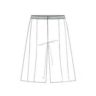 时装短裤款式图-女装设计-服装设计