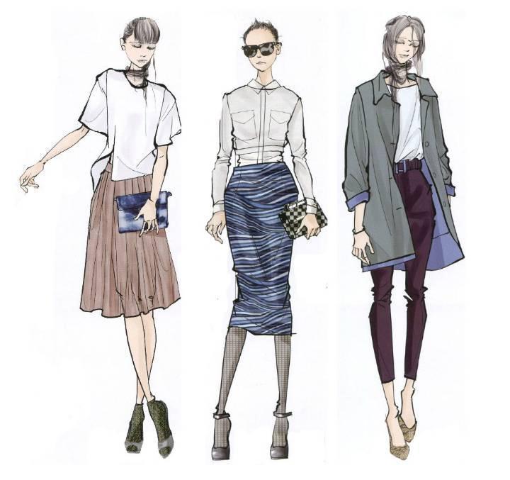 时装电脑手绘稿-女装设计-服装设计