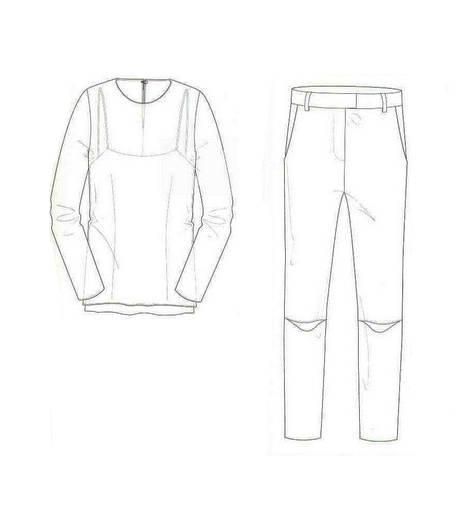 休闲装款式图-女装设计-服装设计