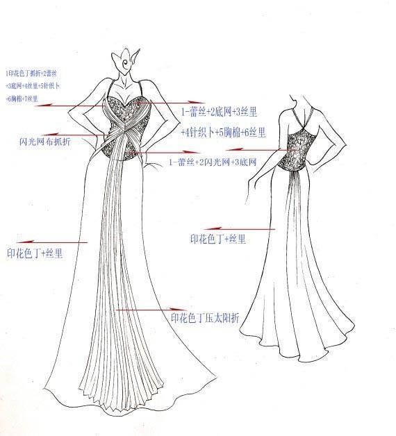 晚礼服设计稿-婚纱礼服设计-服装设计
