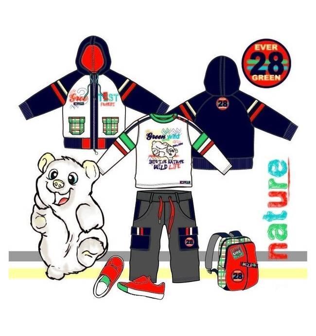 运动装款式图-童装设计-服装设计
