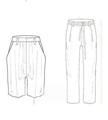 女裤款式图
