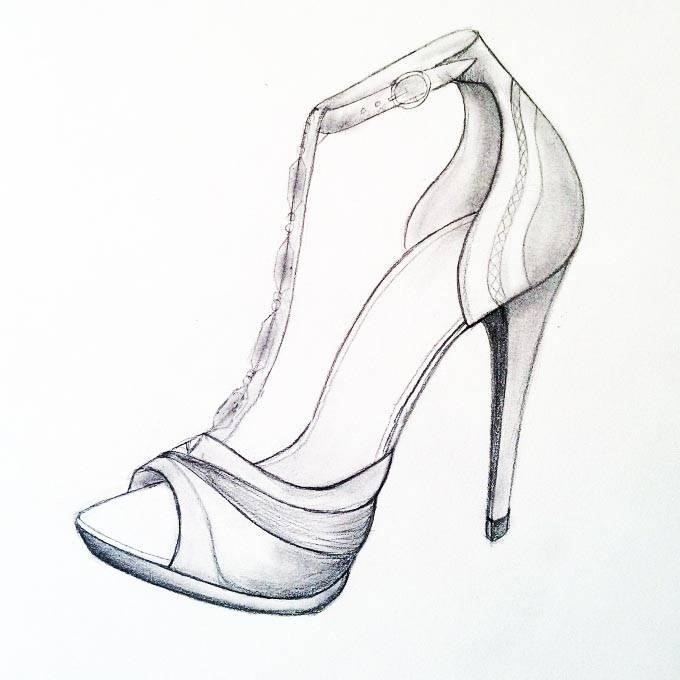 鞋履手稿-鞋帽配饰设计-服装设计