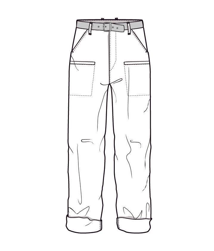 休闲裤款式图-男装设计-服装设计