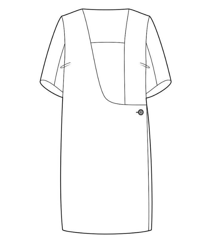 h型衣服款式图手绘图