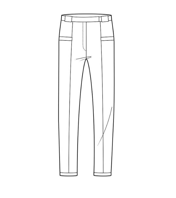 修身小脚裤款式图图片