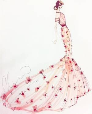 著名設計師禮服設計圖展示