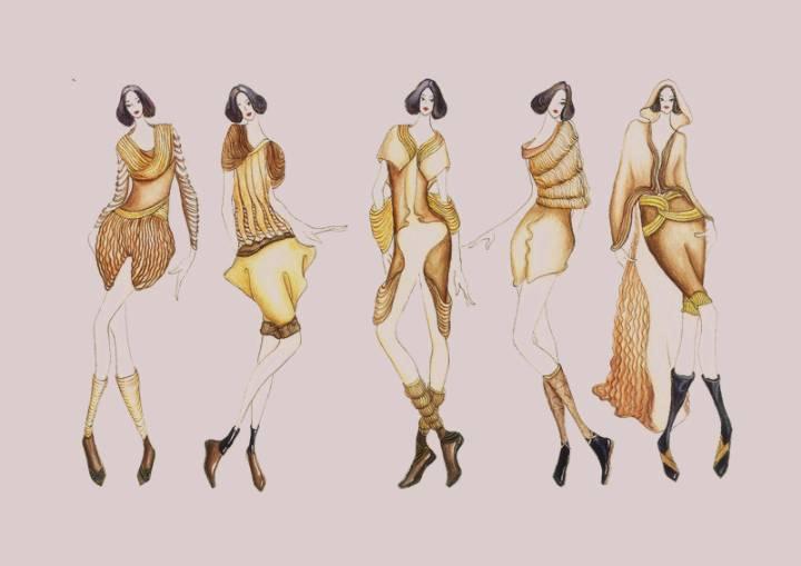 时装设计手绘效果图-女装设计-服装设计