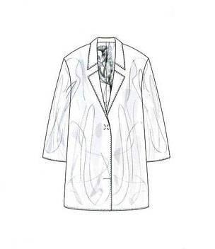 大衣风衣款式图-女装设计-服装设计