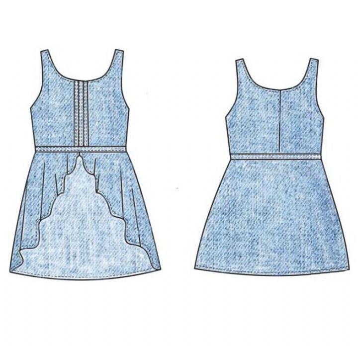 童装连衣裙设计作品-童装连衣裙设计款式图
