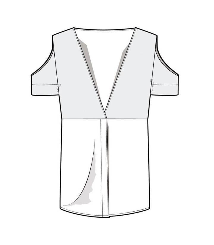 上衣款式图-女装设计-服装设计