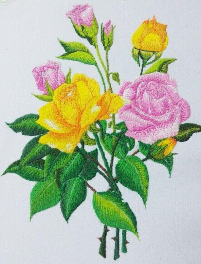 玫瑰绣花图案-图案设计设计-服装设计