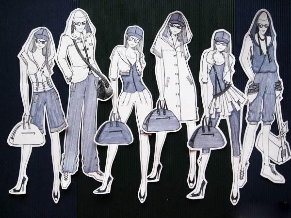 休闲装效果图-女装设计-服装设计