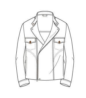 大衣,夹棉大衣,款式图-男装设计-服装设计-服装设计网