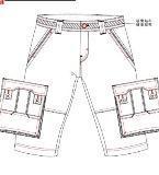 男多袋中裤
