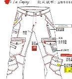 男装牛仔裤款式图工艺