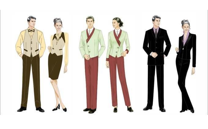 酒店制服工作服款式-职业服装设计-服装设计