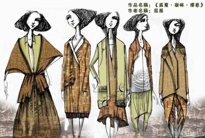 盛夏·凝眸·禅意-大赛作品设计-服装设计