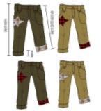 童装休闲裤款式图