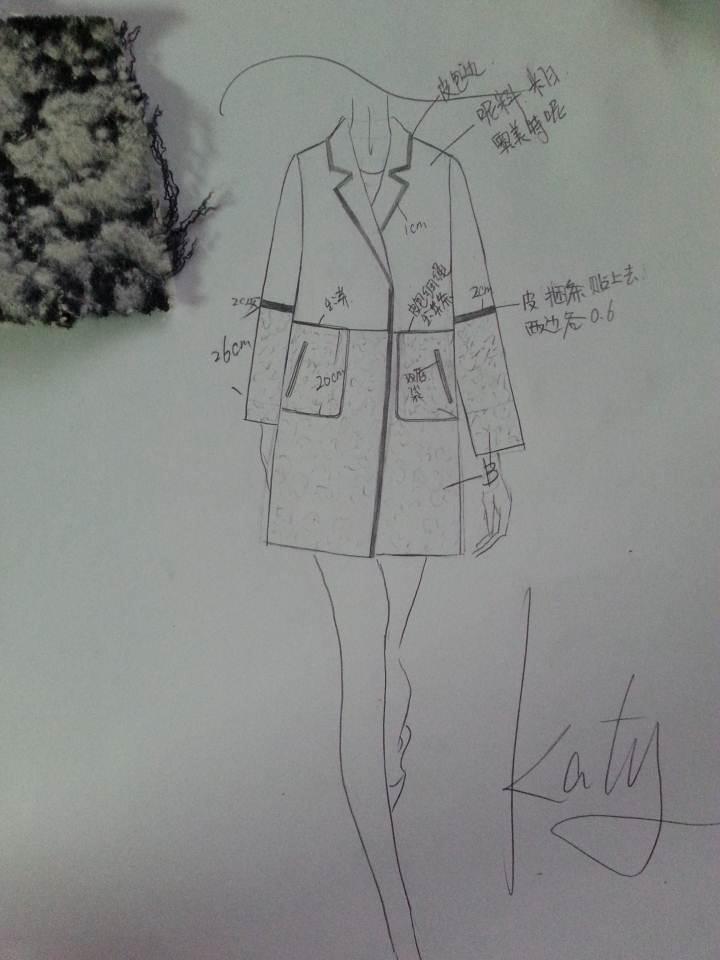 我的作品-手绘连衣裙