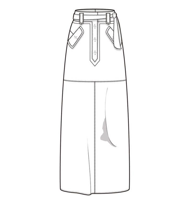 裙子半裙款式图