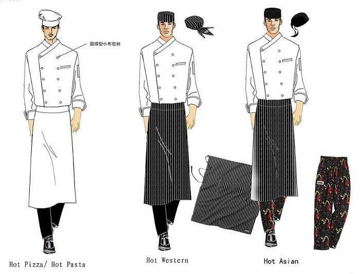 厨师服工作服款式-职业服装设计-服装设计