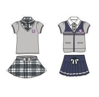 英伦套装校服款式-童装设计-服装设计图片