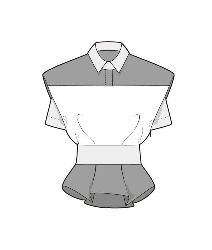 女士个性上衣衬衫款式图-女装设计-服装设计