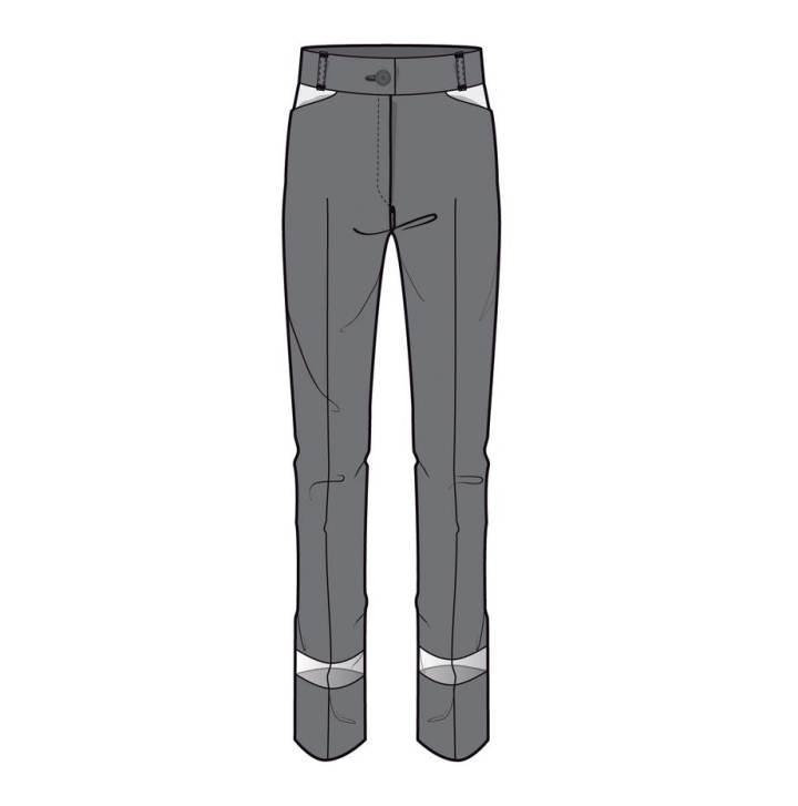 西装女裤款式图