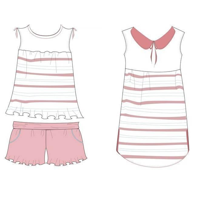 婴儿服装款式图手绘
