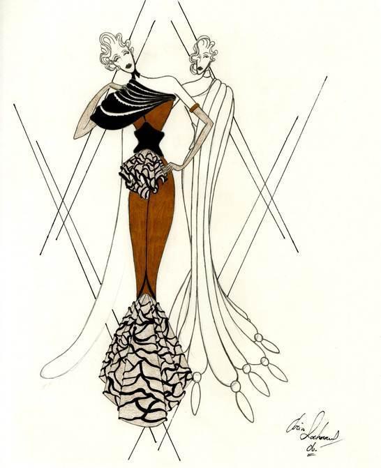 創意禮服手稿-婚紗禮服設計-服裝設計