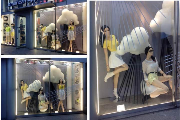 橱窗女装陈列展示-橱窗陈列设计-服装设计
