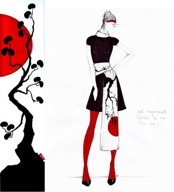 手绘稿-女装设计-服装设计