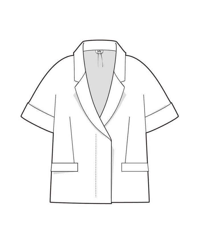 短袖外套款式图