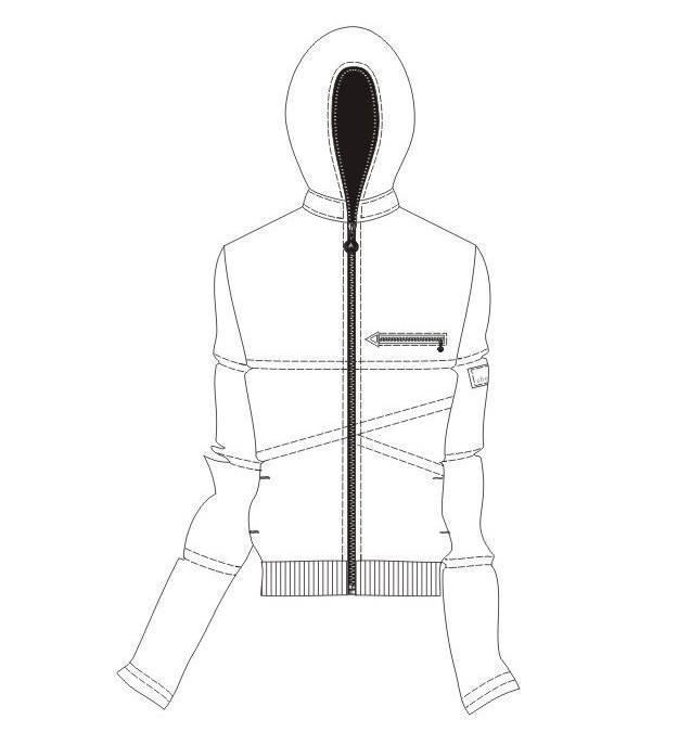 卫衣外套款式图-男装设计-服装设计