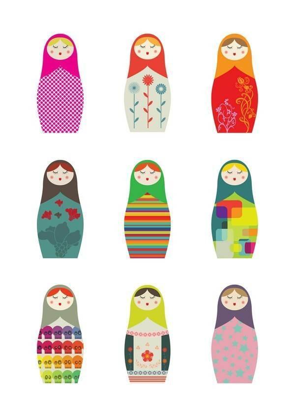 俄罗斯娃娃-图案设计设计-服装设计