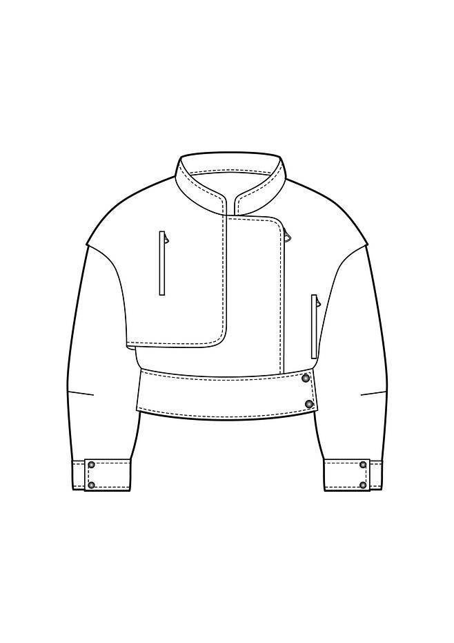 夹克短外套廓形款式图