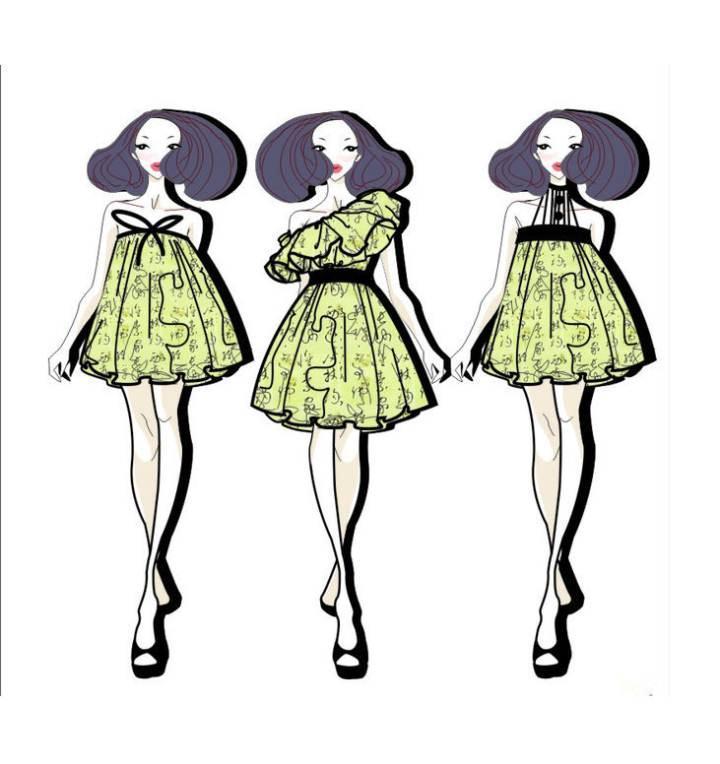 连衣裙系列-女装设计-服装设计