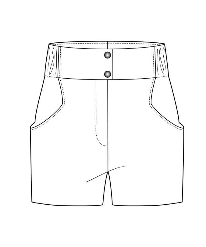 短裤款式图