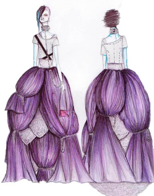 礼服设计图手稿 款式展示