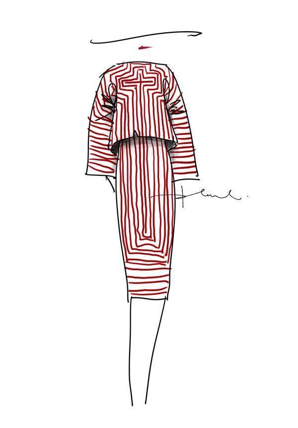 时装手稿套装-女装设计-服装设计