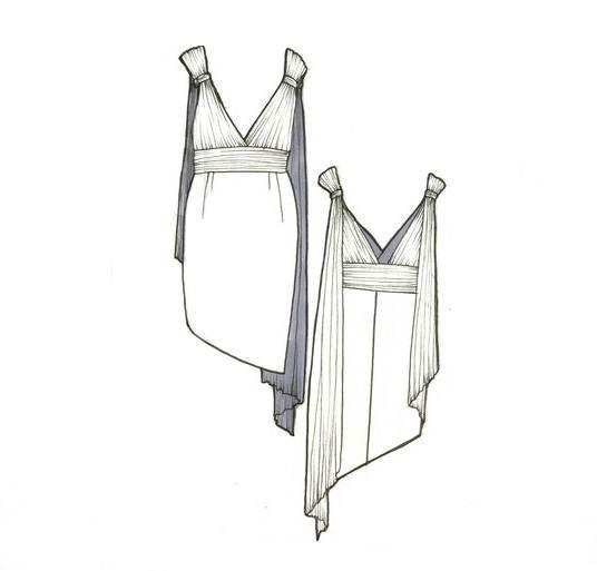 小礼服款式图-婚纱礼服设计-服装设计